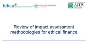 REVIEW OF IMPACT ASSESSMENT METHODOLOGIES FOR ETHICAL FINANCE