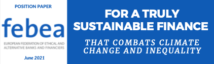 You are currently viewing FEBEA POSITION PAPER ON THE EU SUSTAINABLE FINANCE STRATEGY